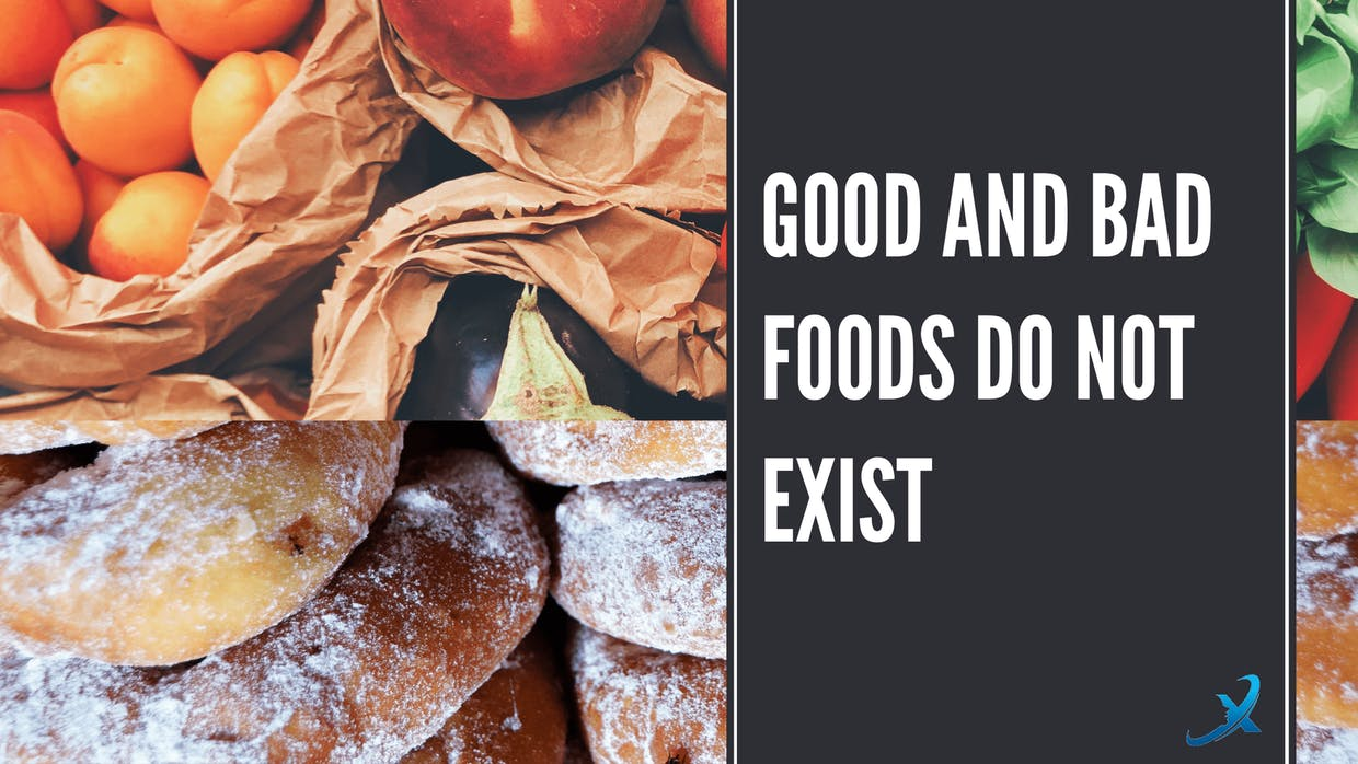 good and bad foods do not exist, it all depends on context