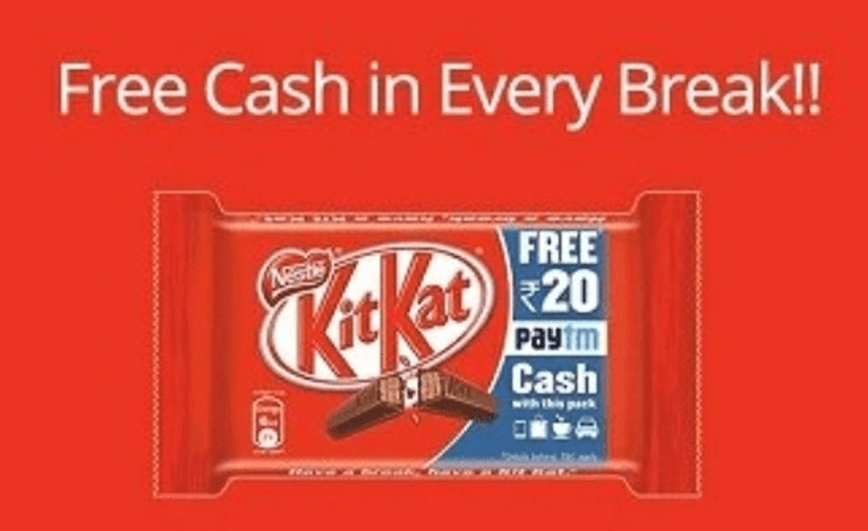 Kitkat and Paytm collaboration