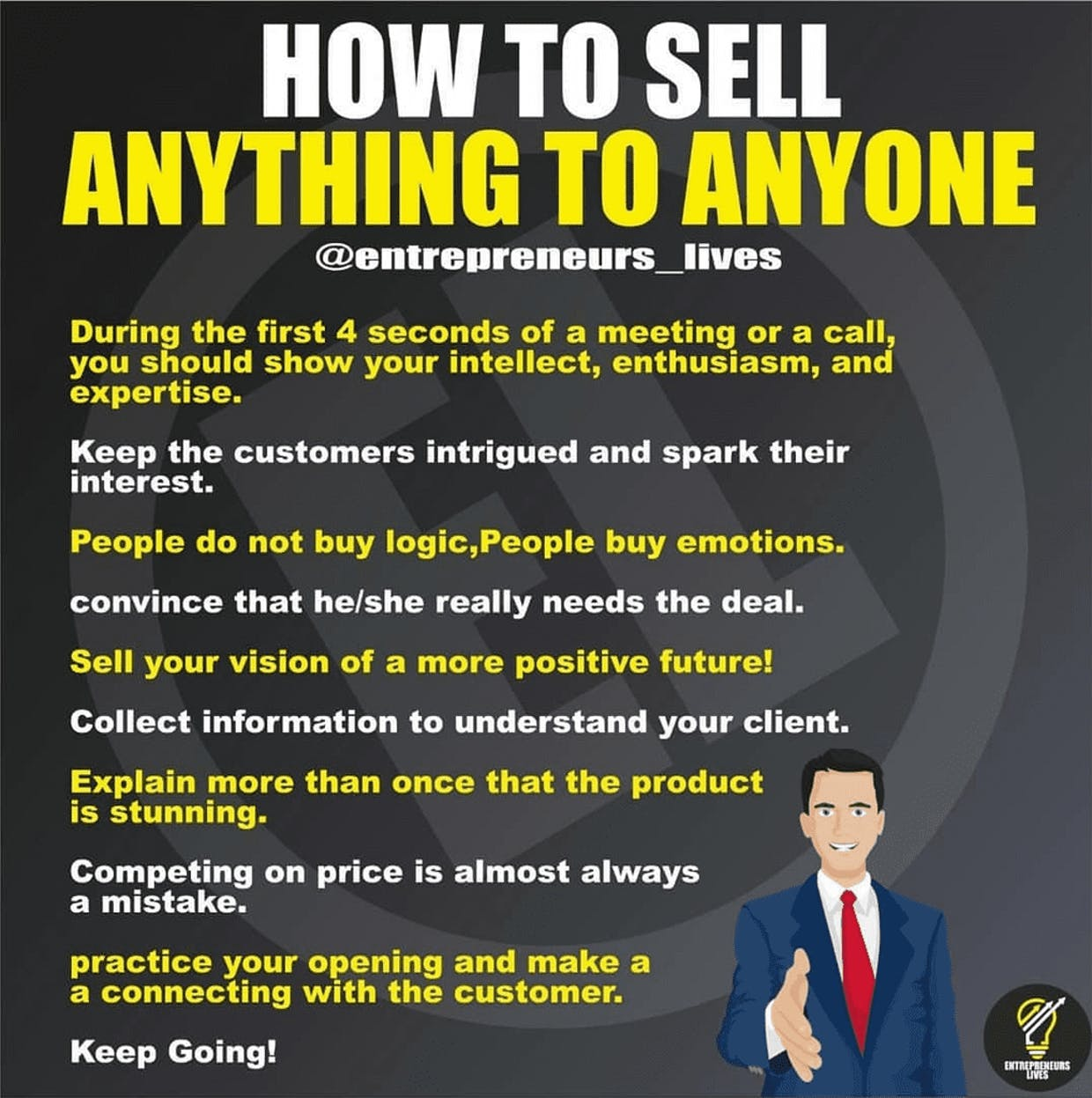 Tips for selling