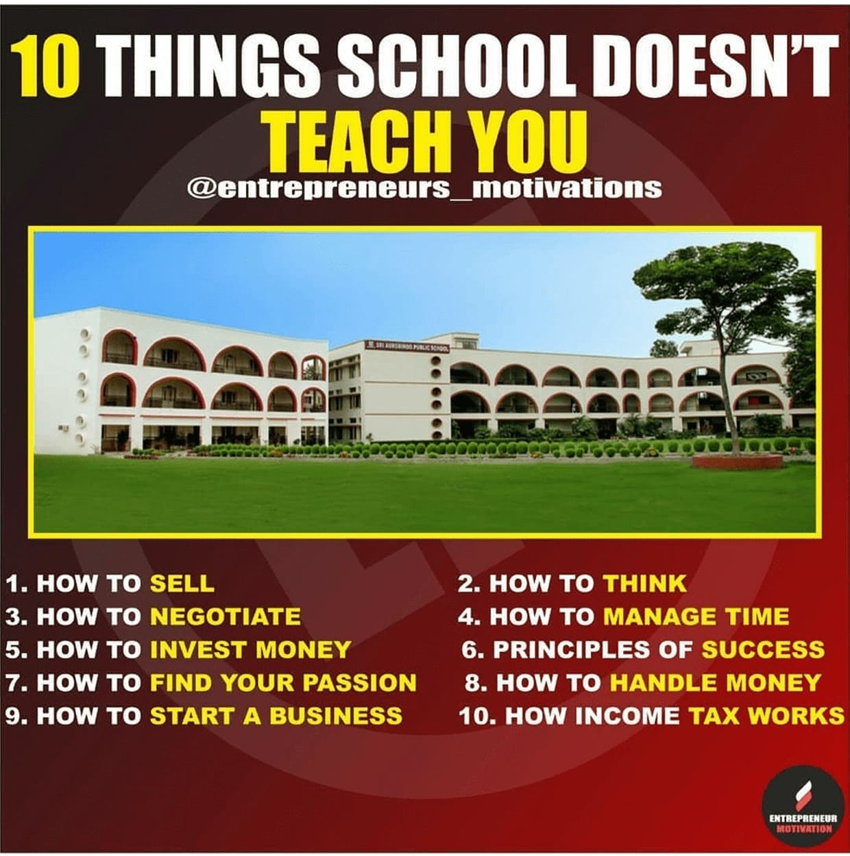 Skills that school does not teach