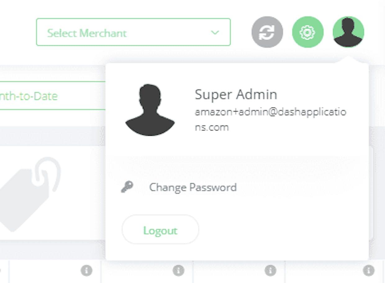 How do I change my dash platform login?