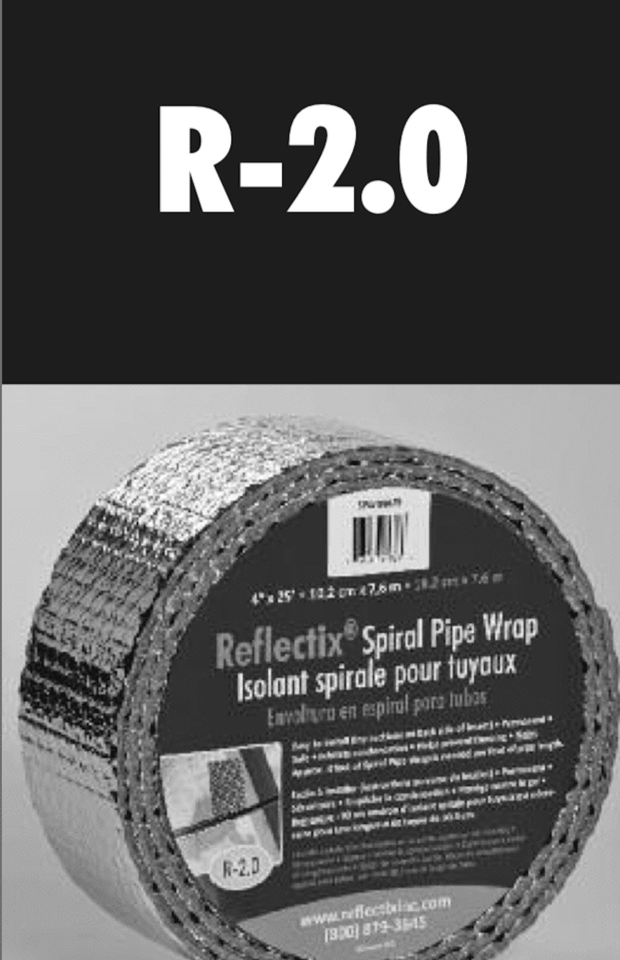 Radiant Barrier Pipe Wrap (bubble-wrap core)