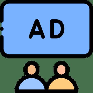 Screen advertising