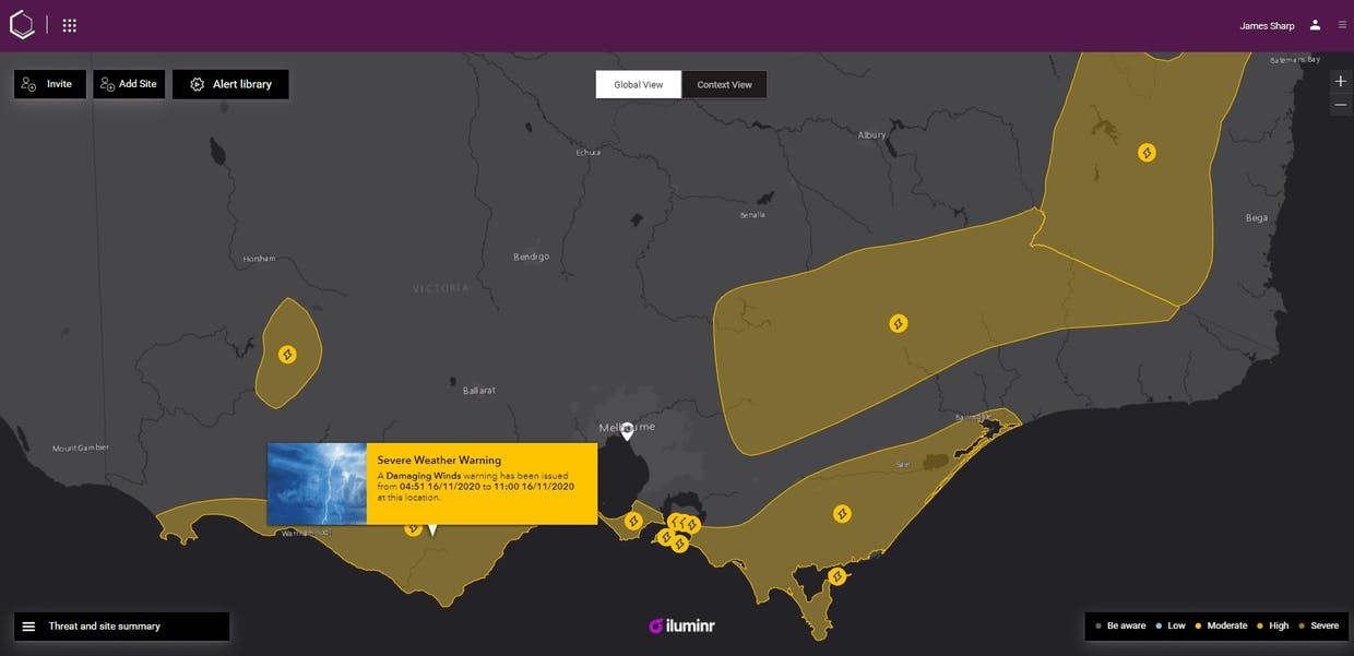 The BOM has issued Damaging Winds Warnings across most of the state today