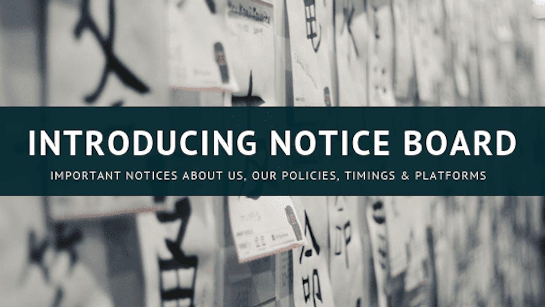 Introducing Notice Board