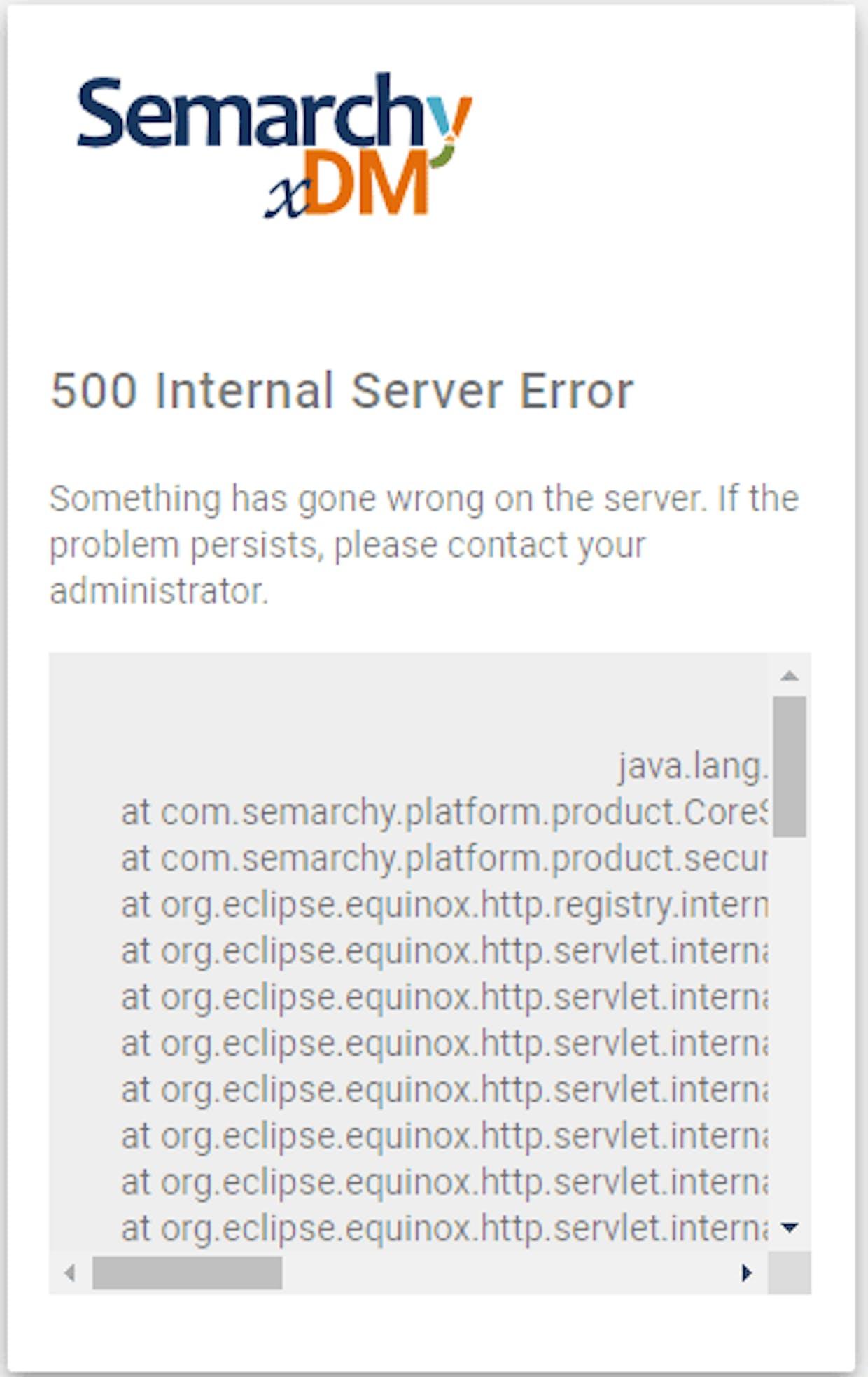 Status 500 http