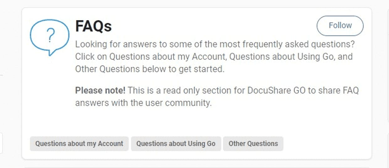 FAQs: Filtered by Subcategories