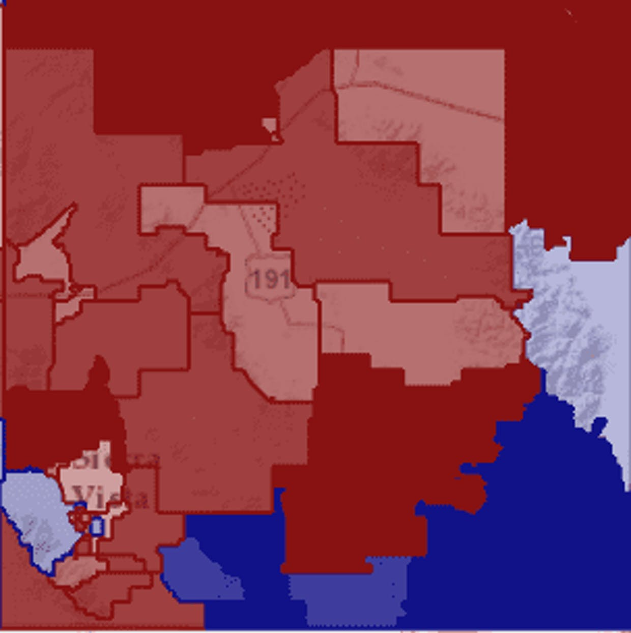 U.S. President votes by precinct in CC