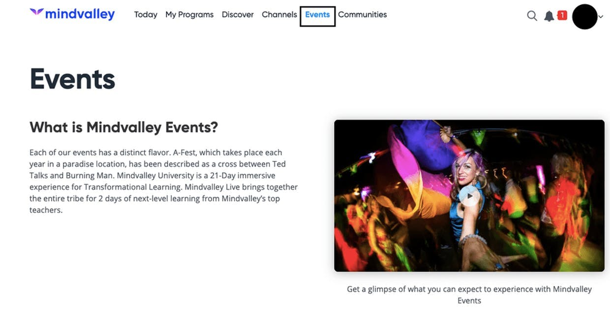 How can I stay updated with Mindvalley's events?