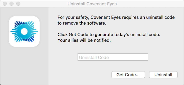 How do I uninstall Covenant Eyes from my Mac?